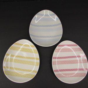 3 Pottery Barn Easter Egg Salad Dessert Plates